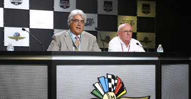 IMS CEO Mark Miles (Left) with Derrick Walker, president of competition and operations. Photo by: Bret Kelley
