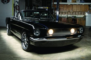 """Black Diamond,"" a 1965 Mustang, owned by Todd and Stephanie Foust"