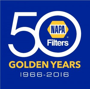 NAPA Filters 50 Golden Years Logo