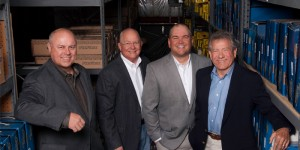 From left: Dick Hedahl, president and CEO of Hedahls; John Bartlett, executive chairman of APH; Corey Bartlett, president and CEO of APH; and Larry Lysengen, chief operating officer of Hedahls.
