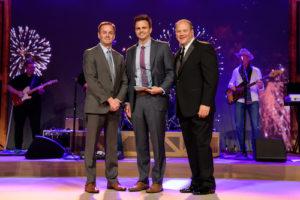 Kent Coleman, Kory Coleman and John Kairys at Midas Franchise Award ceremony.