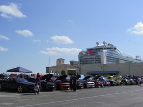 More than 200 vehicles were on display at the FAST Expo Car Show, set against the backdrop of the Ruby Princess Cruiseline, docked at the Port of Ft. Lauderdale.