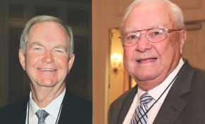 Walter Spence and Clay Buzzard were posthumously awarded the Martin Fromm Lifetime Achievement Award Sunday at AWDA.