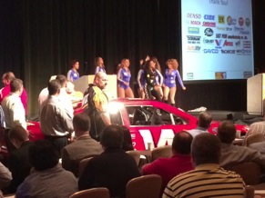 The New Century Dance Company performed while channel partners introduced a race car with Drive to Daytona sweepstakes supporting channel partner logos.