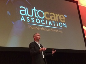 john gundlach from gmmb, the ad agency that assisted the association with the rebranding initiative, discussed the auto care association launch during the luncheon, noting that the rebranding goal was to simplify the industry's complex story into a powerful, memorable one.