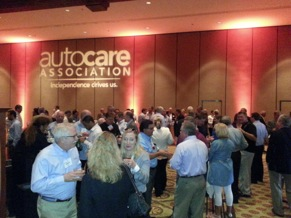 The Auto Care Association celebration reception Thursday evening also served as the official launch party for the new name and brand messaging.